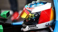 Il casco di Mick Schumacher, vista laterale sinistra