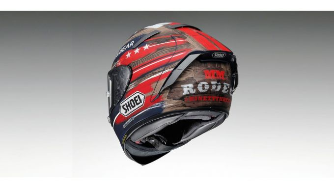 Il casco replica di Marc Marquez nel GP delle Americhe 2019