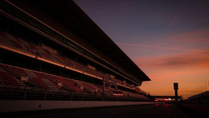 Il Circuit de Catalunya al Montmelò (Barcellona, Spagna) durante i test di F1 2020
