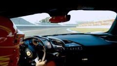 Il collaudatore Francesco Arati al volante della Ferrari SF90 Stradale Assetto Fiorano