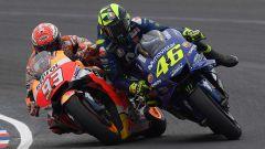 Il contatto tra Marquez e Rossi in Argentina