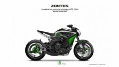 Il design ipotizzato un anno fa per la Zontes 800