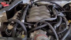 Il dettaglio del motore della Mustang