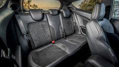 Il divano posteriore della Ford Fiesta ST è comodo per due occupanti