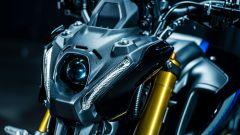 Il fanale anteriore della Yamaha MT-09 SP