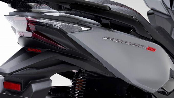 Il fanale posteriore dell'Honda Forza 300 Limited Edition