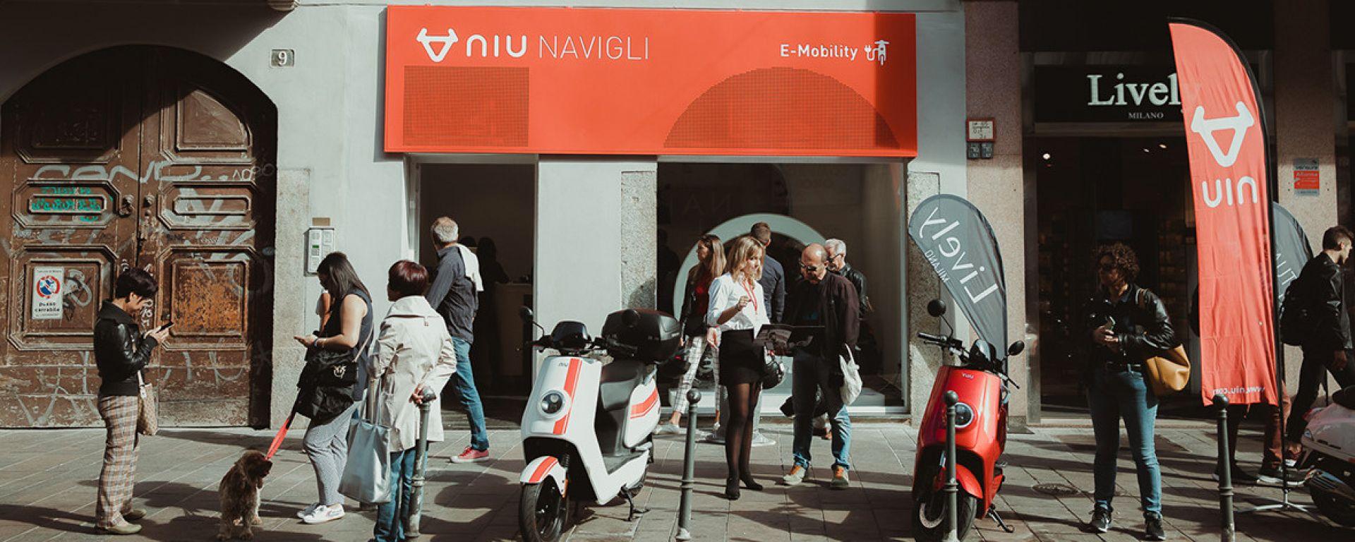 Il flagship store Niu a Milano Navigli