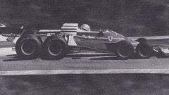 Il fotomontaggio della fantomatica Ferrari 312 T8, con ben 8 ruote!