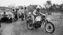 Il francese Cyril Neveu impegnato nella Dakar 1979, corsa che vincerà ad appena 22 anni di età