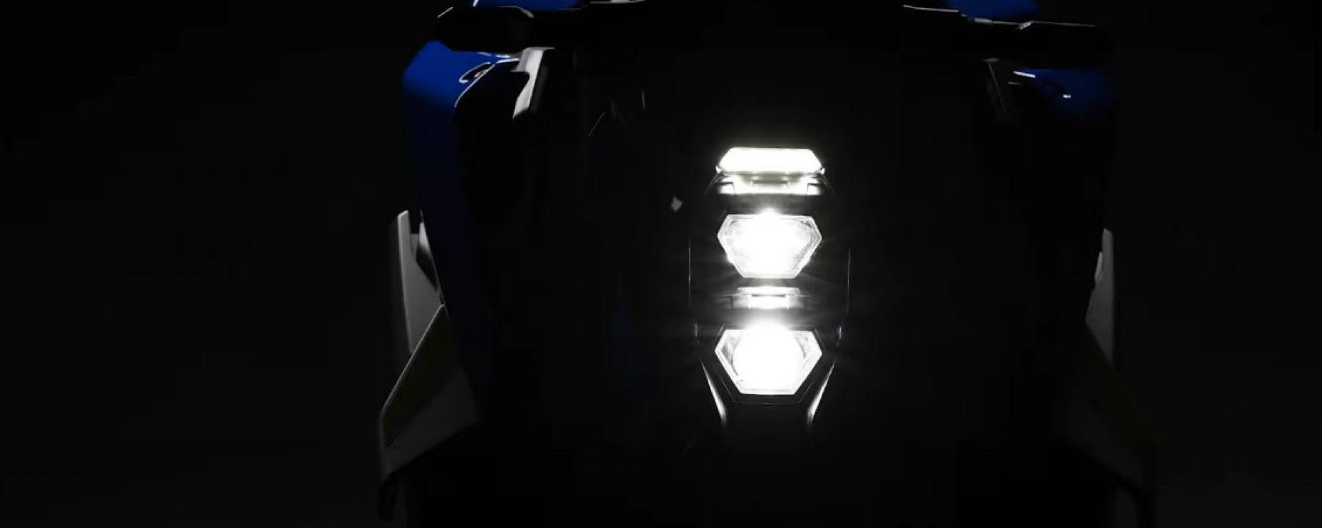 Il frontale della nuova Suzuki GSX-S1000 2021
