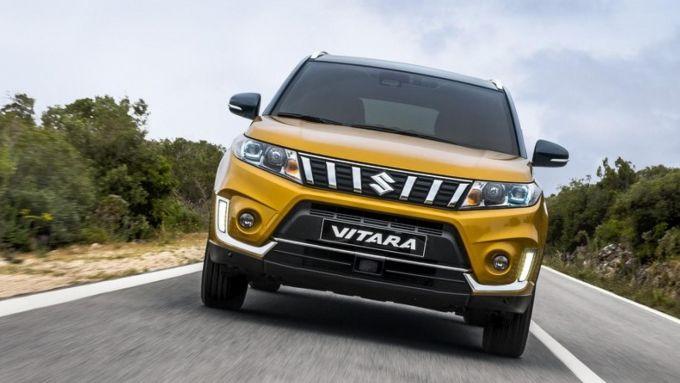 Il frontale della Suzuki VItara 2019
