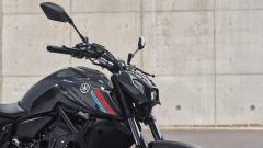 Il frontale della Yamaha MT-07 2021