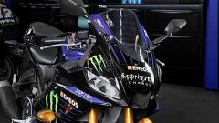 Il frontale della Yamaha YZF-R3 Monster Energy MotoGP Edition 2020