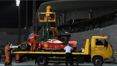 Il guasto al cambio sulla Ferrari di Vettel