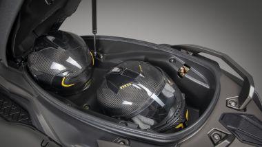 Il Kymco DTX360: il vano sottosella