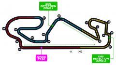 Il layout del Circuit de Catalunya di Barcellona