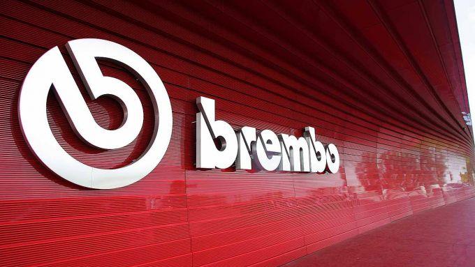 Il logo Brembo al Kilometro Rosso di Stezzano (BG)