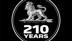 Il logo per i 210 anni di Peugeot