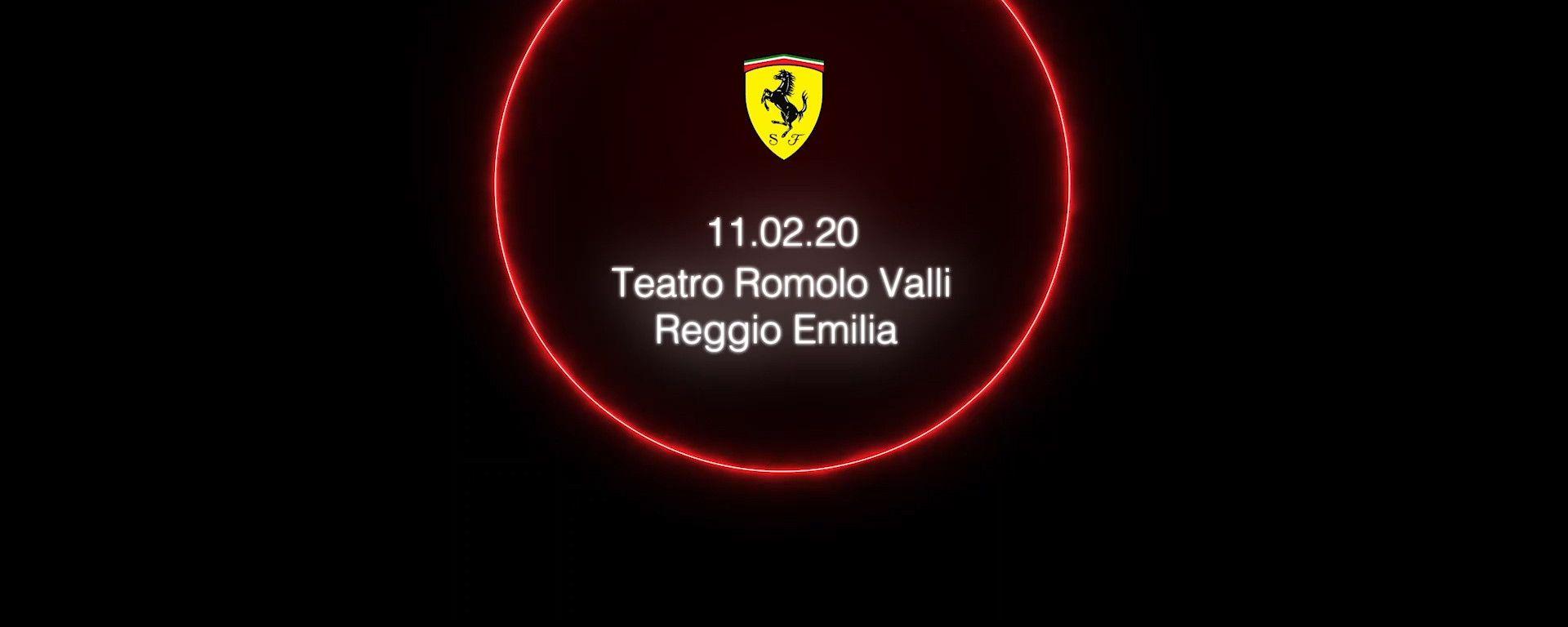 Il logo scelto dalla Ferrari per la presentazione della nuova monoposto F1