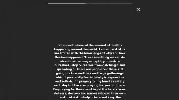 Il messaggio di Lewis Hamilton su Instagram