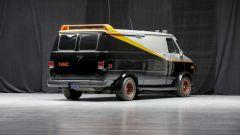 Il mitico furgone dell'A-Team visto di 3/4 posteriore