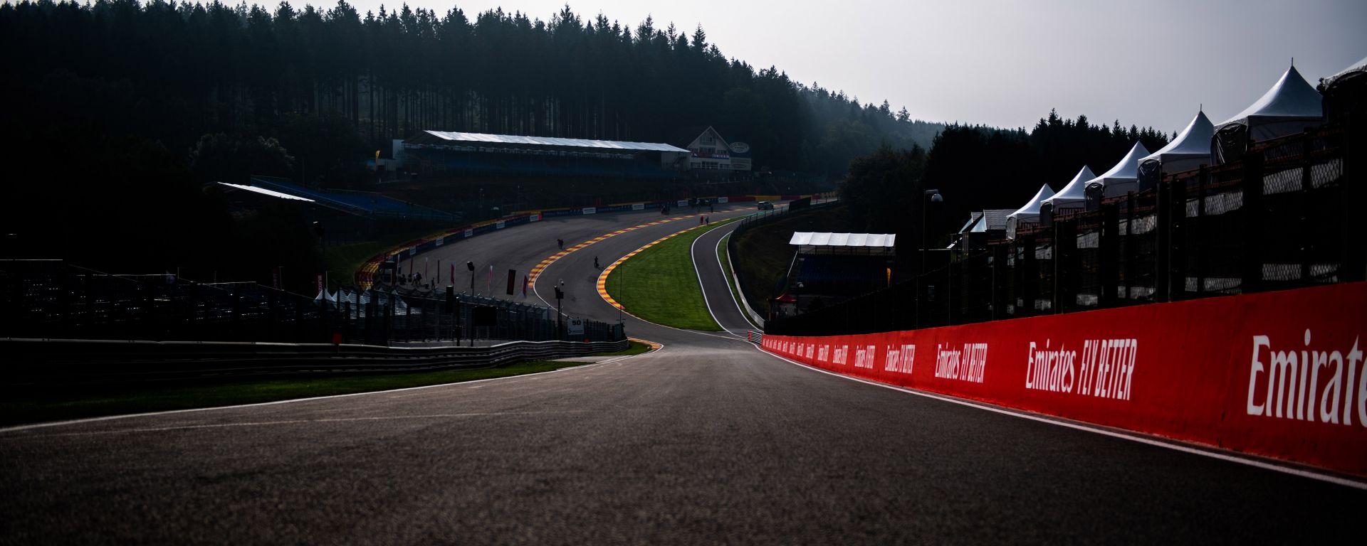 Il mitico tratto dell'Eau Rouge sul circuito di Spa-Francorchamps