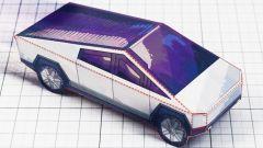 Il modello in carta del Cybertruck