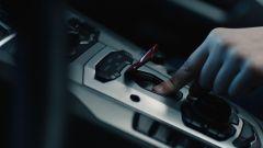 Il momento dell'accensione della Lamborghini Aventador S