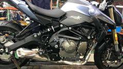 Il motore a 4 cilindri della nuova Benelli SRK 600