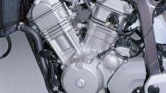 Il motore bicilindrico a V è una caratteristica della Transalp