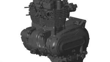 Il motore bicilindrico della Brixton 1200