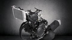 Il motore bicilindrico della Yamaha R3