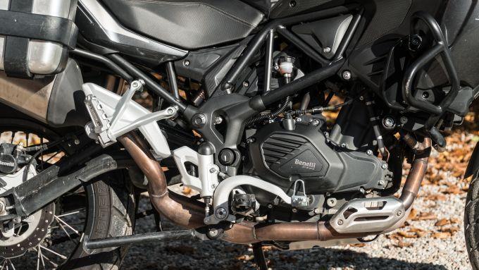 Il motore della Benelli TRK 502 X