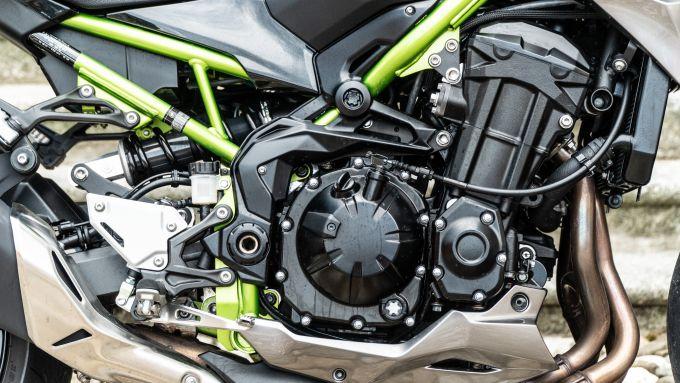 Il motore della Kawasaki Z900