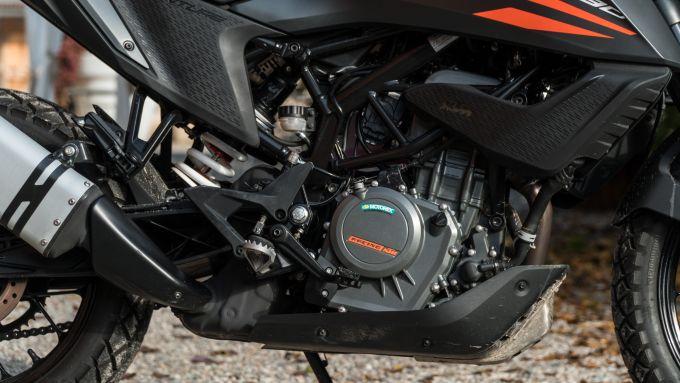 Il motore della KTM 390 Adventure