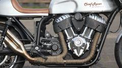 Il motore della special Chief Racer, la cafè racer su base Indan Chief