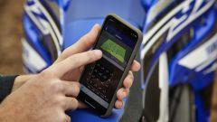 Il motore della YZ250 si può mettere a punto tramite un app