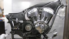 Il motore Indian 111 Thunder Stroke con il telaio della Chief Racer