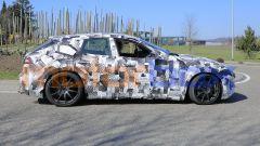 Il muletto SUV Ferrari Purosangue, vista laterale