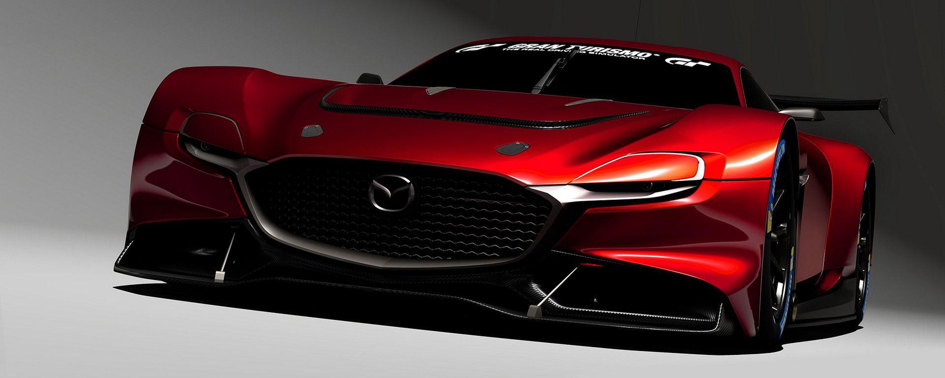 Il muso aggressivo della Mazda RX-Vision GT3 Concept