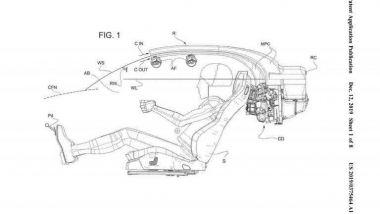 Il nuovo brevetto Ferrari prevede la possibilità di due parabrezza