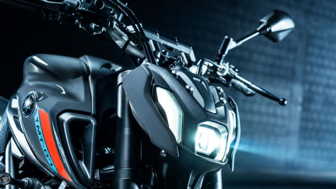 Il nuovo faro della Yamaha MT-07 2021