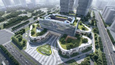 Il nuovo quartier generale Lotus Technology in costruzione a Wuhan, Cina