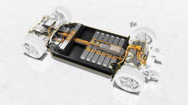 Il pacco batterie della nuova Porsche Taycan