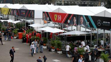 Il paddock della Formula 1