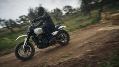 Il parafango anteriore caratterizza il look dell'Harley-Davidson XG750 da Hill Climb
