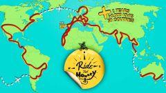 Il percorso del giro del mondo che André Sousa farà con la Honda Monkey