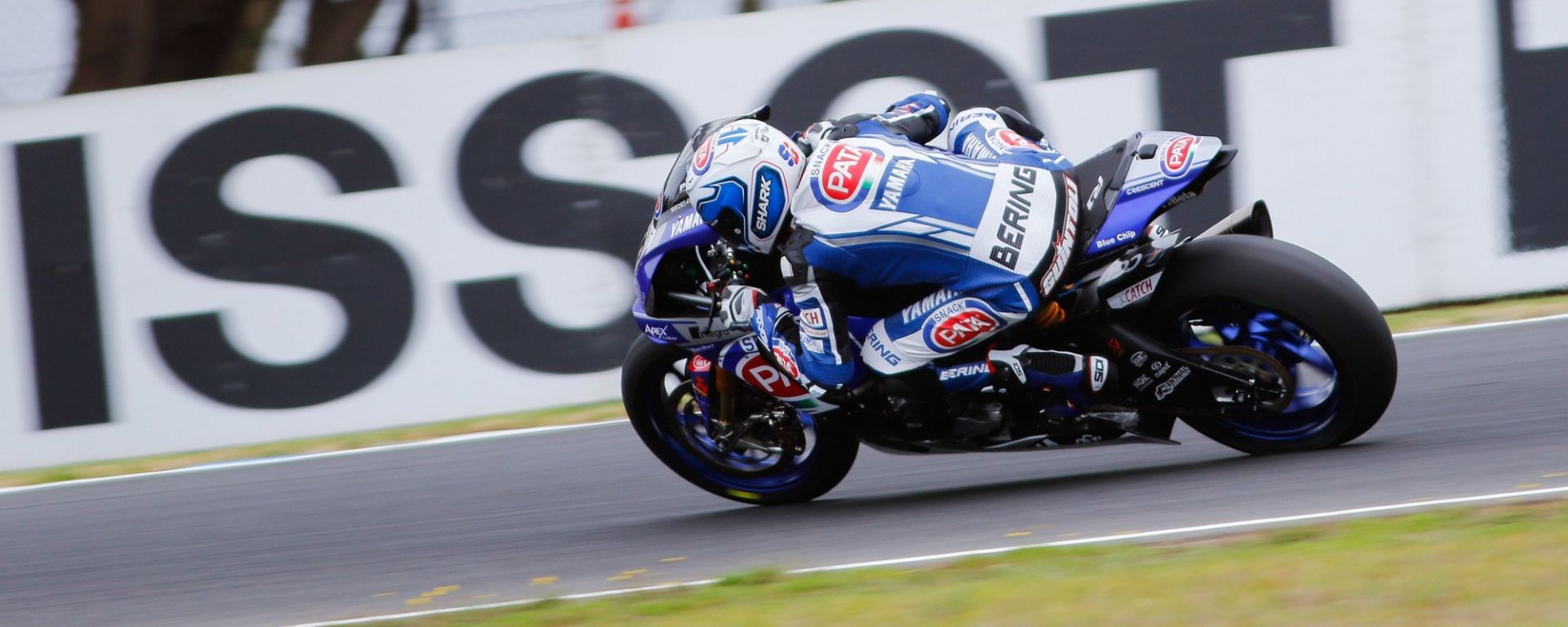 Il pilota Yamaha Sylvain Guintoli il più veloce nelle libere