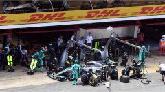 Il pit stop di Valterri Bottas - F1 2017 GP Spagna