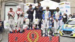 Il podio con Andreucci vincitore nel 2016 - Rally del Ciocco e Valle del Serchio